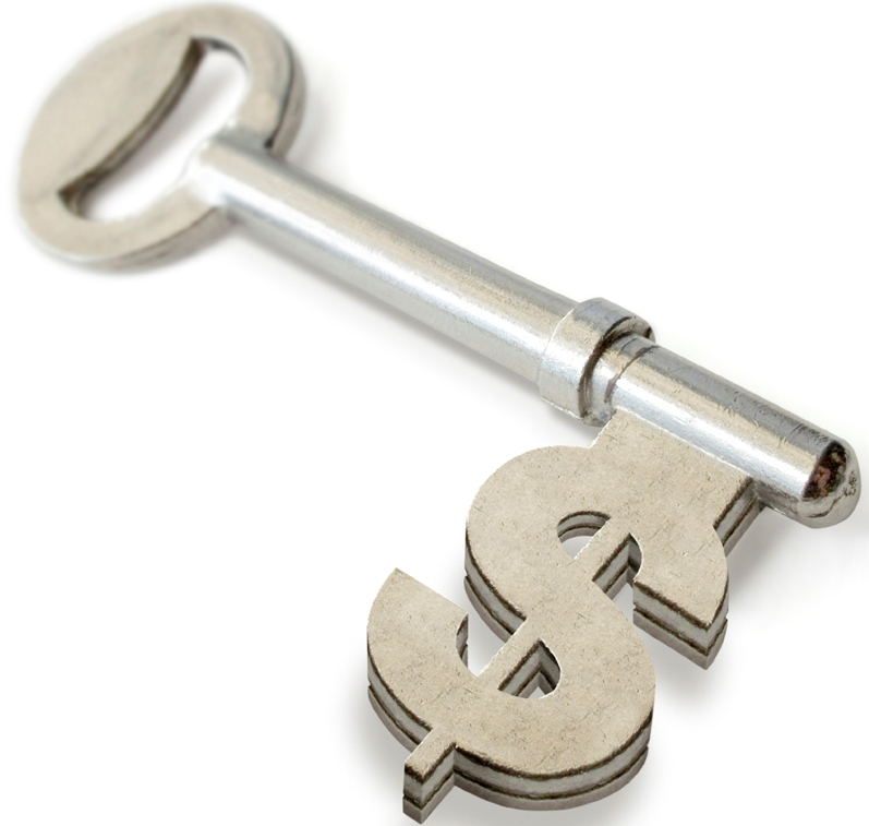 Money key image