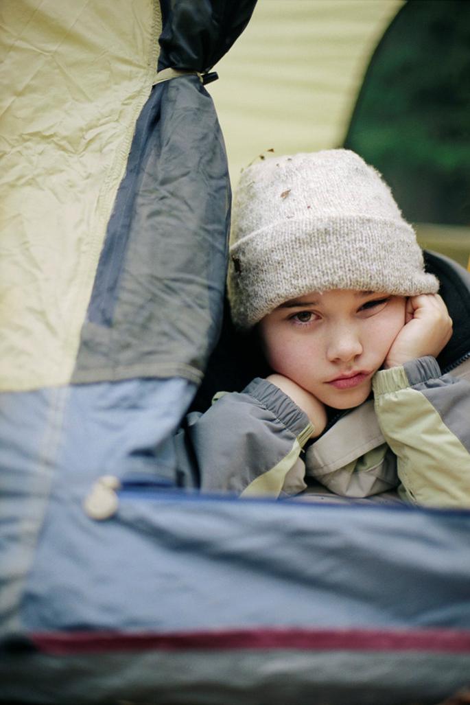 homesick child at camp