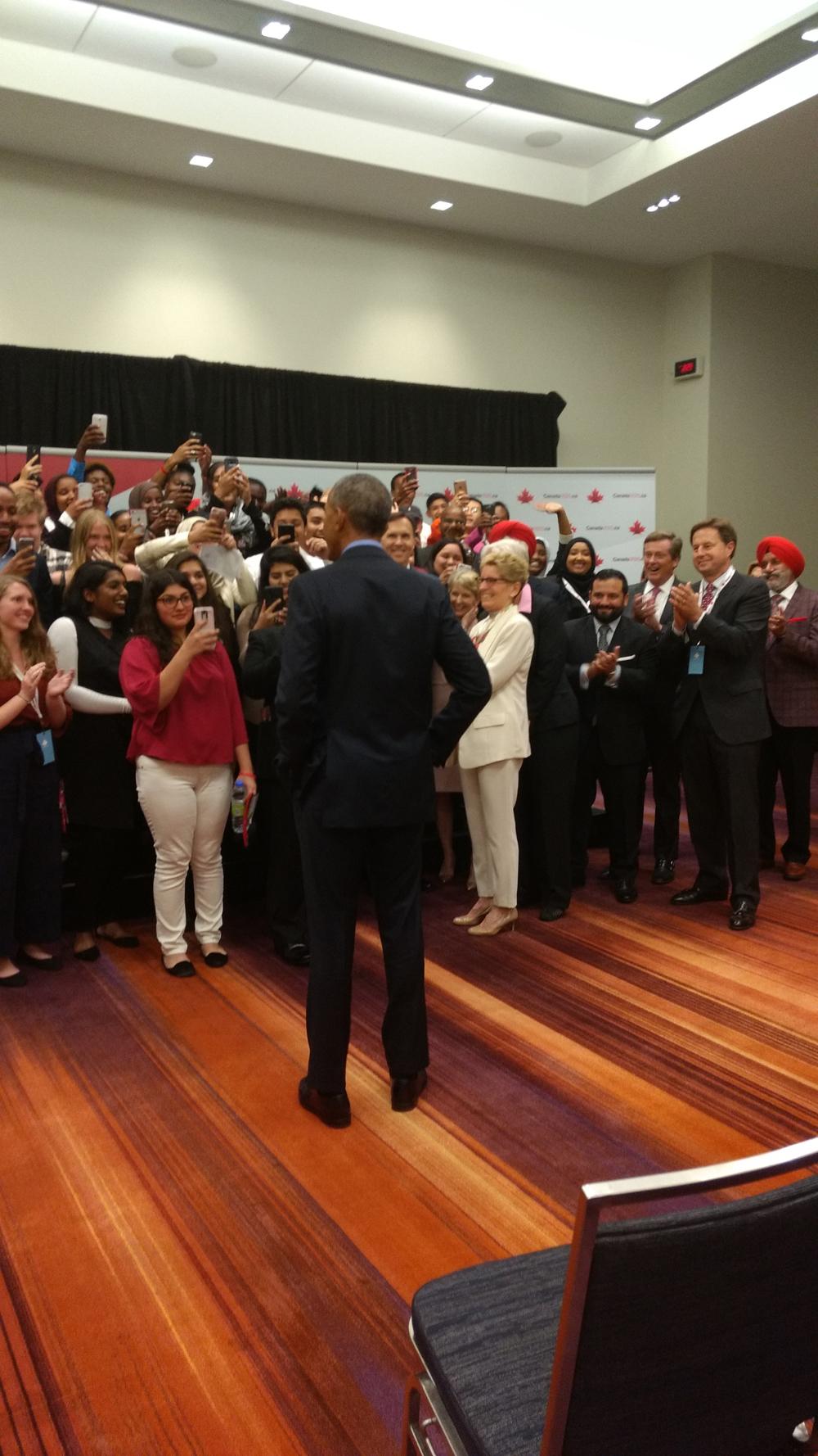 Pathways Students Meet President Obama