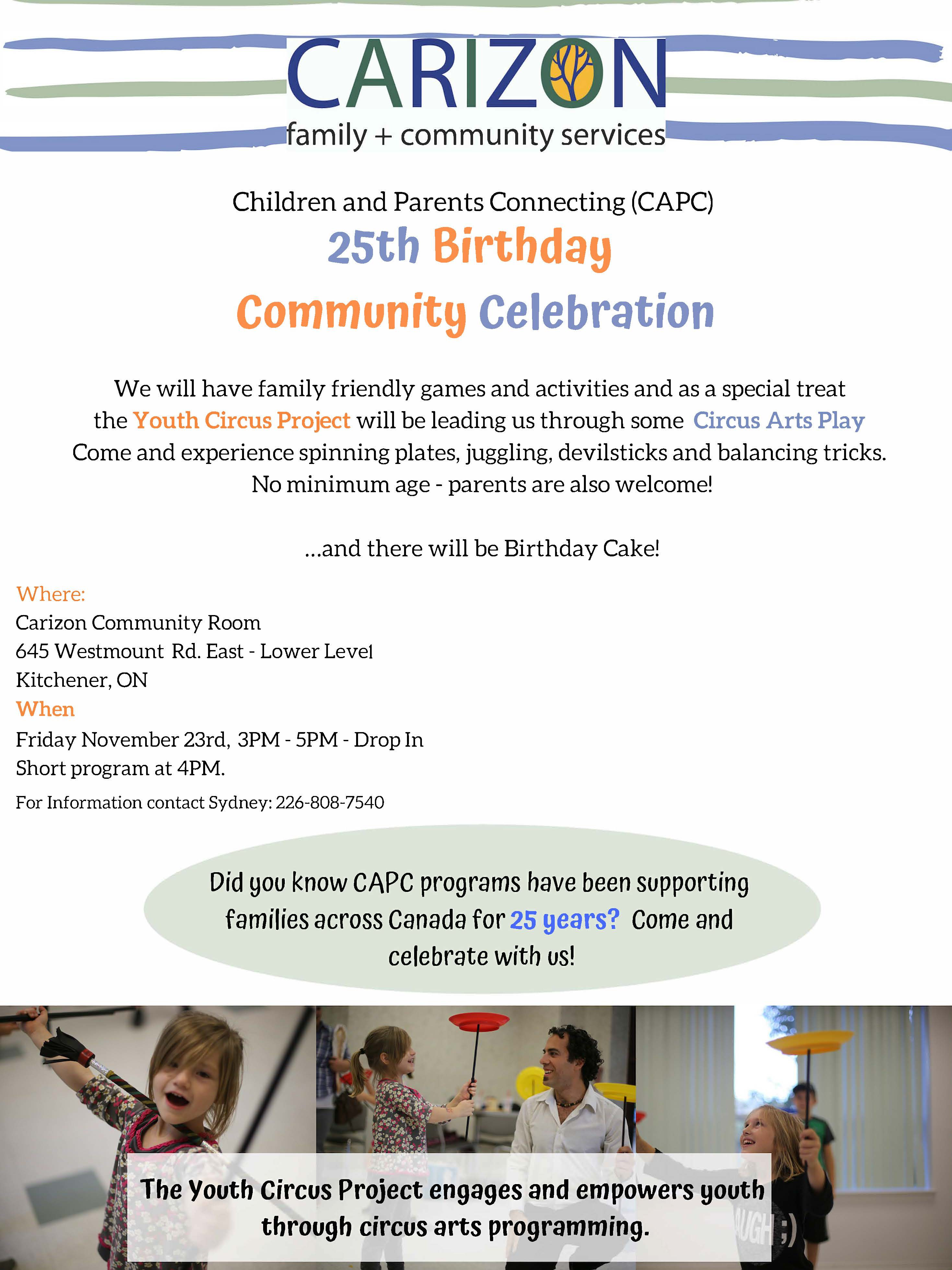 Carizon Celebrates 25th Birthday of Children and Parents Connecting (CAPC)