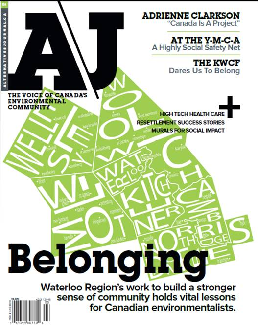 Connectivity Featured in AJ (Alternatives Journal) Magazine