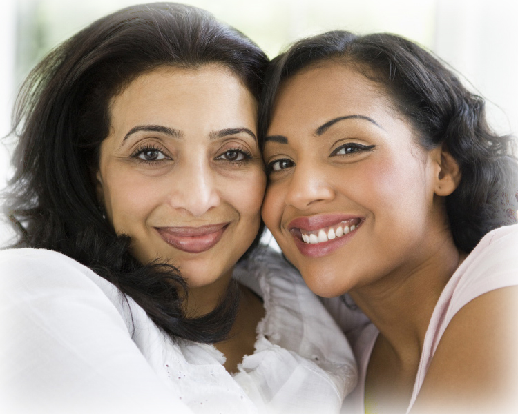 mother and young adult daughter
